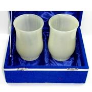 Комплект из двух фигурных стаканов из оникса по 400 мл.